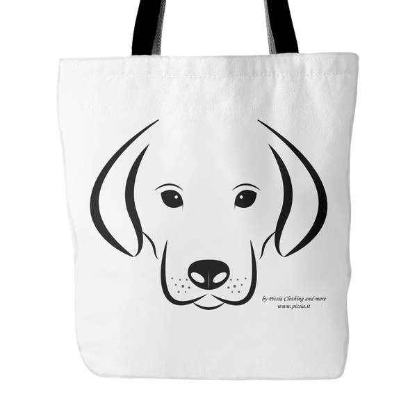 Dog  18 x 18 tote bag 100% spun polyester poplin fabric - Picsia Clothing and More