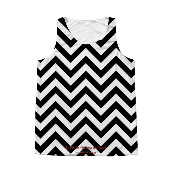 Wave Design Graphic Printed All Over Print Tank Top - Picsia Clothing and More