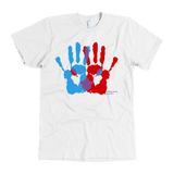Ambidextrie Hands Design Graphic Printed American Apparel Men's T-shirt Short Sleeve - Picsia Clothing and More