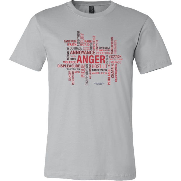 Anger Design Graphic Printed Canvas Men's Shirt Tee Casual T-shirt - Picsia Clothing and More