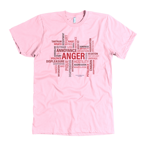 Anger Design Graphic Printed American Apparel Men's T-shirt - Picsia Clothing and More