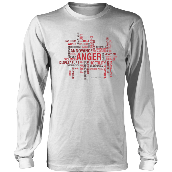 Anger Design Graphic Printed District Long Sleeve Shirt Casual Tee T-shirt - Picsia Clothing and More