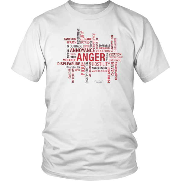 Anger Design Graphic Printed District Unisex Shirt Casual Tee T-shirt - Picsia Clothing and More