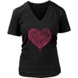 Heart (5) District Women's V-Neck - Picsia Clothing and More