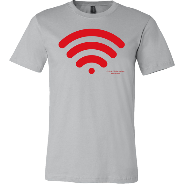 Wireless Design Graphic Printed Canvas Men's Shirt Tee Casual T-shirt - Picsia Clothing and More
