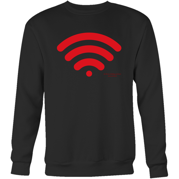 Wireless Design Graphic Printed Crewneck Sweatshirt Casual Plush - Picsia Clothing and More