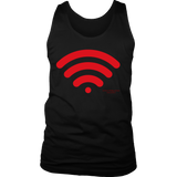 Wireless Design Graphic Printed District Men's Tank Top Casual - Picsia Clothing and More