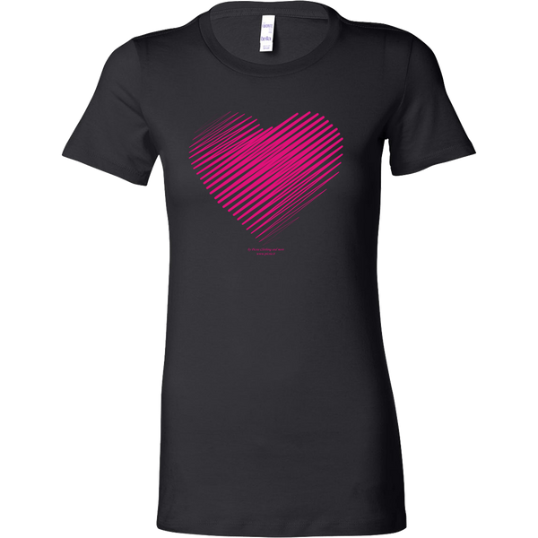 Heart (3) Design Graphic Printed Bella Women's Shirt Casual Tee T-shirt for Ladies - Picsia Clothing and More