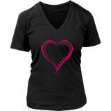 Heart (6) District Women's V-Neck - Picsia Clothing and More