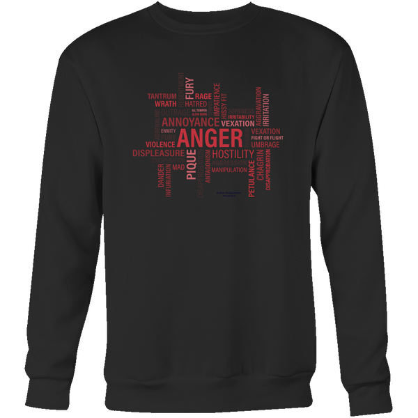 Anger Crewneck Sweatshirt - Picsia Clothing and More