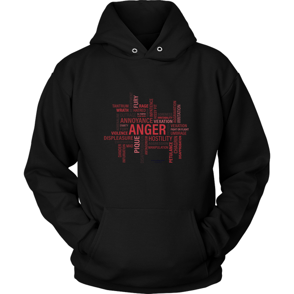 Anger Unisex Hoodie - Picsia Clothing and More