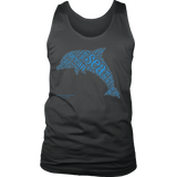 Dolphin Design Graphic Printed District Men's Tank Top Casual - Picsia Clothing and More