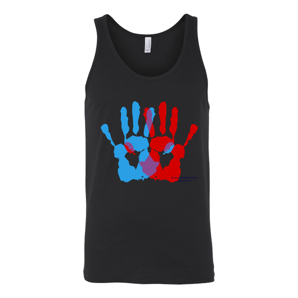 Ambidextrie Design Graphic Printed Canvas Unisex Tank Top Casual - Picsia Clothing and More