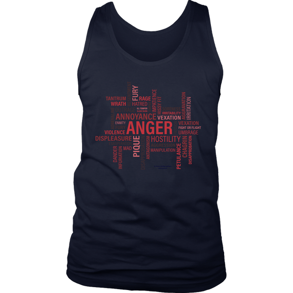 Anger Design Graphic Printed District Men's Tank Top Casual - Picsia Clothing and More