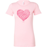 Heart (5) Design Graphic Printed Bella Women's Shirt Casual Tee T-shirt for Ladies - Picsia Clothing and More