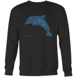 Dolphin Design Graphic Printed Crewneck Sweatshirt Casual Plush - Picsia Clothing and More