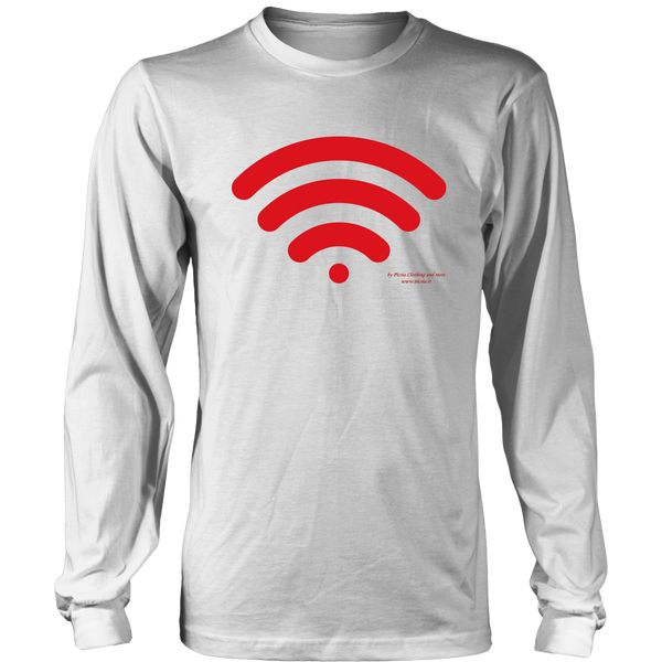 Wireless Design Graphic Printed District Long Sleeve Shirt Casual Tee T-shirt - Picsia Clothing and More