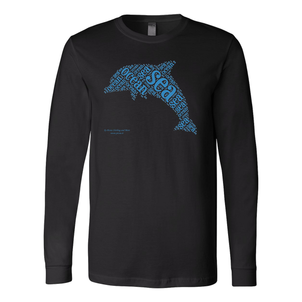 Dolphin Canvas Long Sleeve Shirt - Picsia Clothing and More
