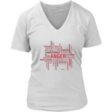 Anger District Women's V-Neck - Picsia Clothing and More