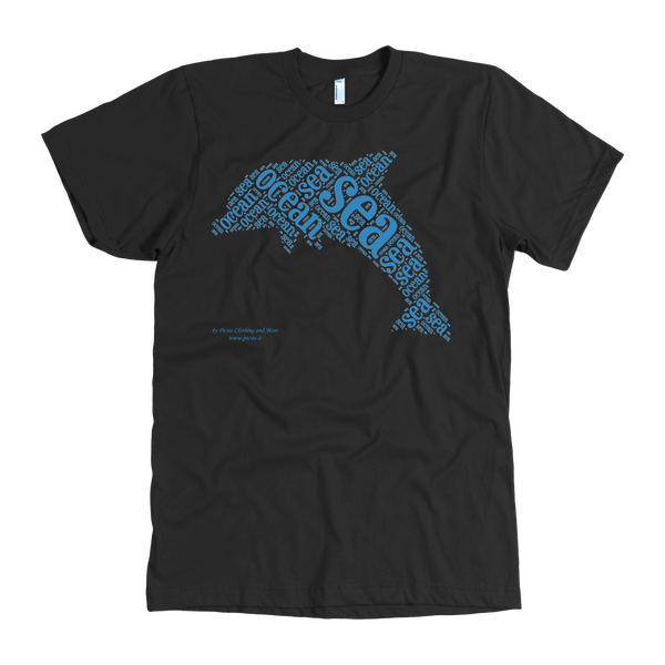 Dolphin Design Graphic Printed American Apparel Men's T-shirt - Picsia Clothing and More