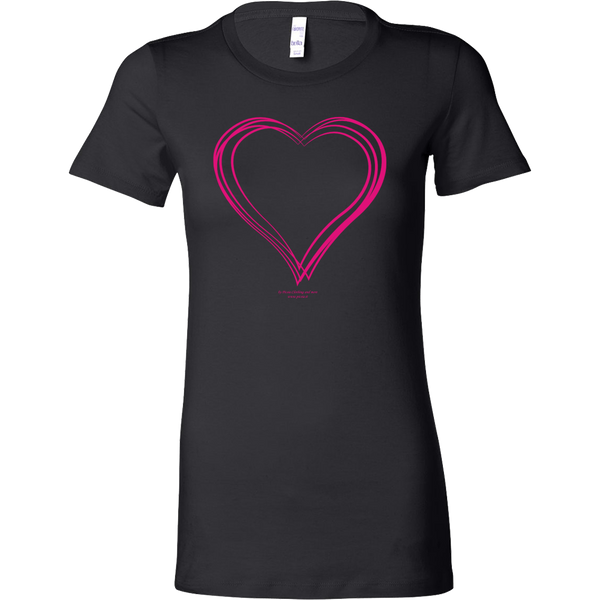 Heart (6) Design Graphic Printed Bella Women's Shirt Casual Tee T-shirt for Ladies - Picsia Clothing and More