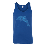Dolphin Canvas Unisex Tank - Picsia Clothing and More
