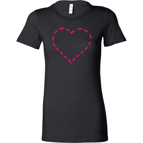 Heart (4) Design Graphic Printed Bella Women's Shirt Casual Tee T-shirt for Ladies - Picsia Clothing and More