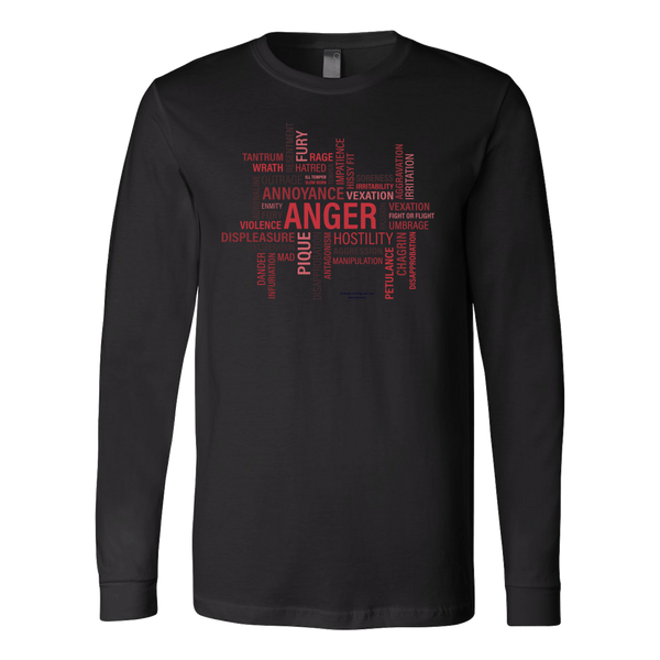 Anger Canvas Long Sleeve Shirt - Picsia Clothing and More