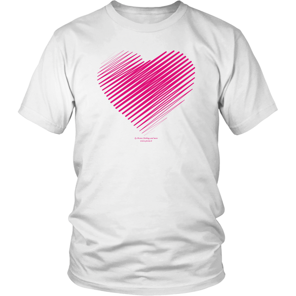 Heart (3) Design Graphic Printed District Unisex Shirt Casual Tee T-shirt - Picsia Clothing and More