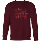 Anger Design Graphic Printed Crewneck Sweatshirt Casual Plush - Picsia Clothing and More
