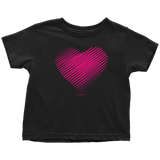 Heart (3) Design Graphic Printed Toddler T-Shirt Casual Tee Shirt - Picsia Clothing and More