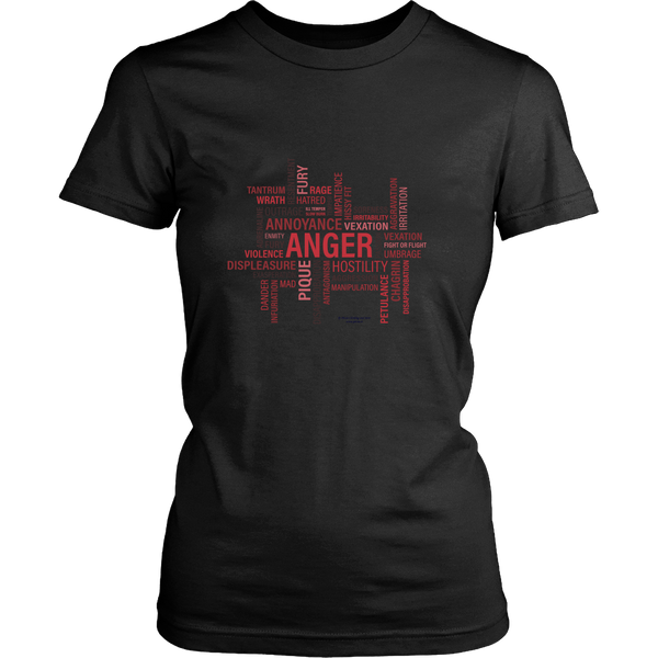Anger Design Graphic Printed District Women's Shirt Casual Tee T-shirt for Ladies - Picsia Clothing and More
