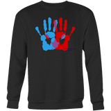 Ambidextrie Design Graphic Printed Crewneck Sweatshirt Casual Plush - Picsia Clothing and More
