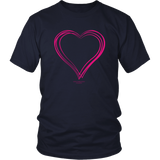 Heart (6) Design Graphic Printed Gildan Unisex Shirt Tee T-shirt - Picsia Clothing and More