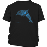Dolphin Design Graphic Printed District Youth Shirt Casual Tee T-Shirt - Picsia Clothing and More