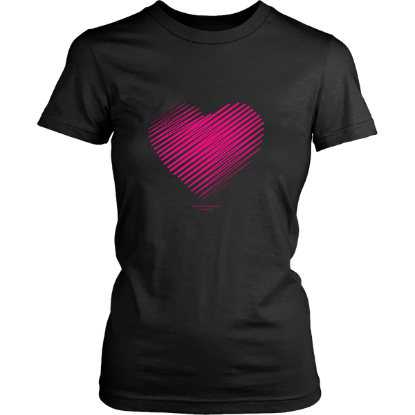Heart (3) Design Graphic Printed District Women's Shirt Casual Tee T-shirt for Ladies - Picsia Clothing and More