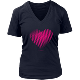 Heart (3) District Women's V-Neck - Picsia Clothing and More