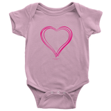 Heart (3) Baby Onesie - Picsia Clothing and More