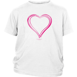 Heart (6) Design Graphic Printed District Youth Shirt Casual Tee T-Shirt - Picsia Clothing and More