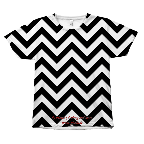 Wave All Over Print Tee - Picsia Clothing and More
