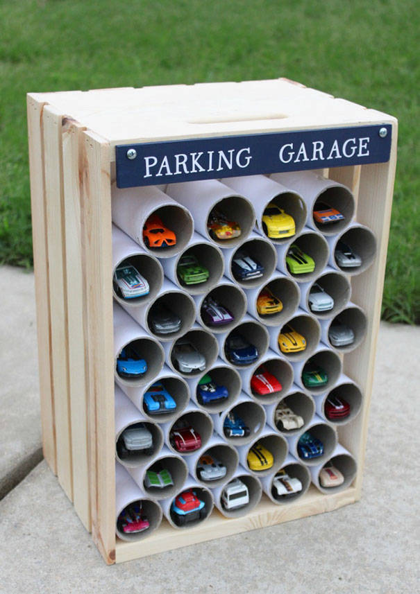 41-use-toilet-paper-rolls-to-create-a-garage-for-toy-cars