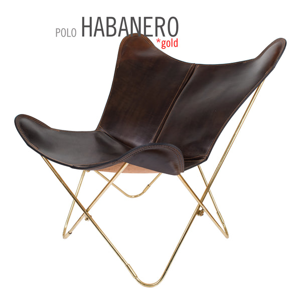 POLO HABANERO LEATHER BUTTERFLY CHAIR