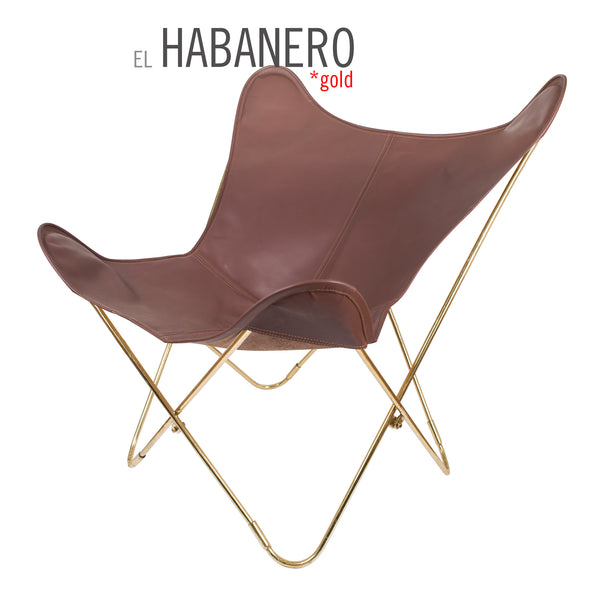 VAQUETA HABANERO LEATHER BUTTERFLY CHAIR