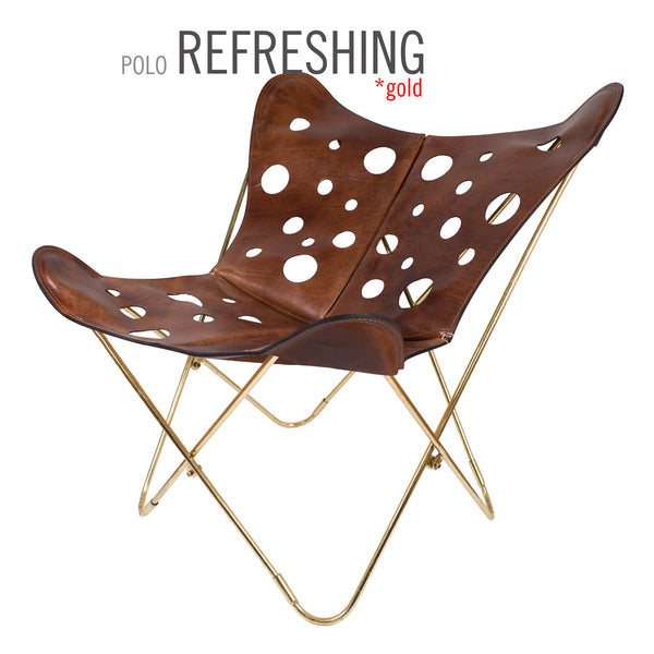 POLO LONDON REFRESHING LEATHER BUTTERFLY CHAIR