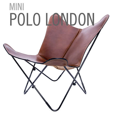 MINI LEATHER BUTTERFLY CHAIR POLO LONDON