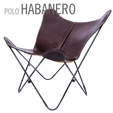 POLO HABANERO BUTTERFLY LEATHER CHAIR