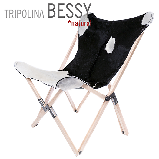 TRIPOLINA BESSY COWHIDE CHAIR