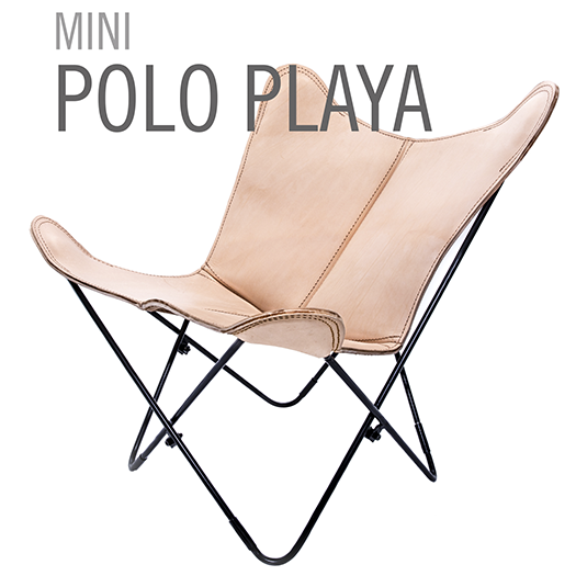 MINI LEATHER BUTTERFLY CHAIR POLO PLAYA
