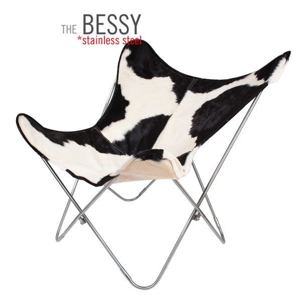 THE BESSY COWHIDE BUTTERFLY CHAIR