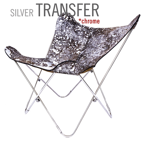 COWHIDE SILVER TRANSFER CHROME